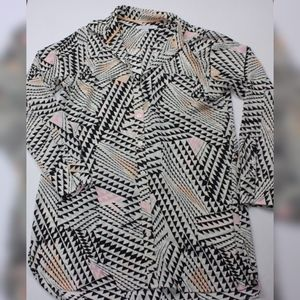 Foxcroft  Button Front Blouse Women's 4